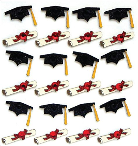 Jolee's Boutique. Dimensional Stickers, Graduation Caps and Diplomas (Limited Edition) -