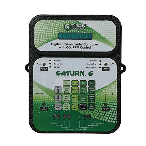 Ppm Co2 Controller (Titan Controls Digital Environmental Controller w/ Carbon Dioxide (CO2) PPM Control, 120V - Saturn 6)