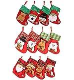 Fascigirl 12PCS Christmas Stocking Gift Bag Christmas Decoration Hanging Stocking for Xmas Tree