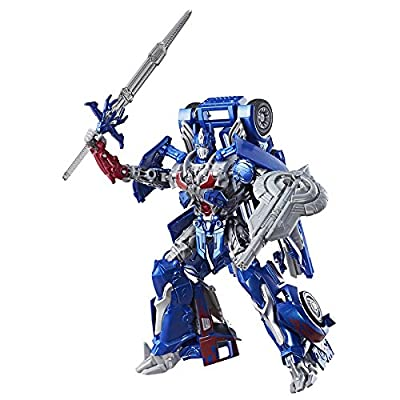Transformers: the Last Knight Premier Edition Leader Class Optimus Prime - the Autobot Leader Converts From Knight Mode To Truck Mode - Fight Off Evil Megatron With Optimus: Toys & Games