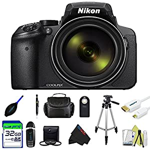 Nikon COOLPIX P900 Digital Camera with 83x Optical Zoom and Built-In Wi-Fi (Black)