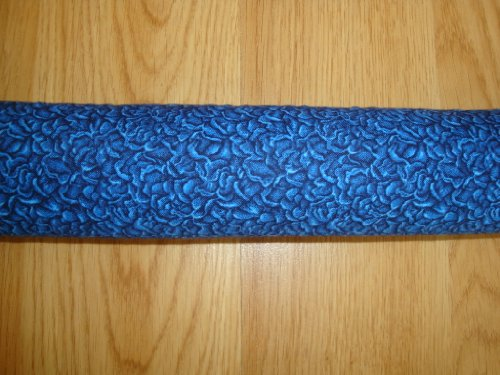 """UPC 661799618281, Door Draft Stopper Filled with Fragrant Balsam - Standard 2"""" X 38"""" – Blue Roses - Quality USA Made"""