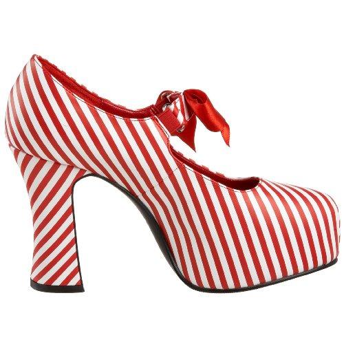 Funtasma by Pleaser Women's Candycane-48 Platform Mary Jane, Size: 9 UK,Color: Red/White Stripe