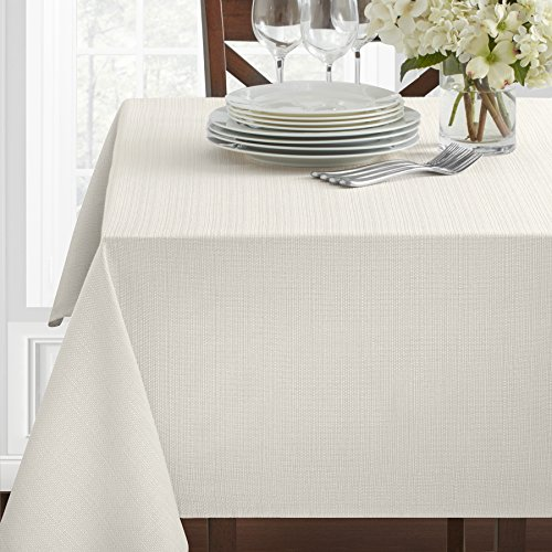 Benson Mills Textured Fabric Tablecloth, 60