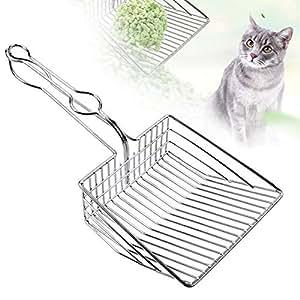 Amazon.com: Cuchara de arena para gatos, de metal duradero ...