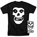 Misfits Fiend Skull Logo T Shirt and Exclusive Stickers (Large)