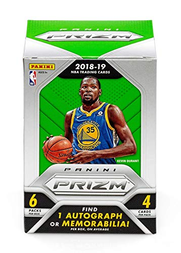 2018/19 Panini Prizm NBA Basketball BLASTER box (6 pk, ONE Memorabilia or Autograph card/box)