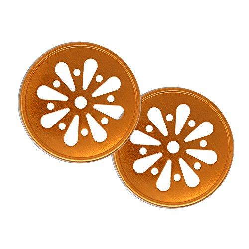 Regular Mouth Mason Jar Daisy Lid Orange - LID ONLY ()