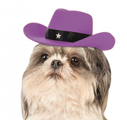 [Rubie's Lavender Cowgirl Hat Dog Costume] (Rodeo Cowboy Dog Costume)