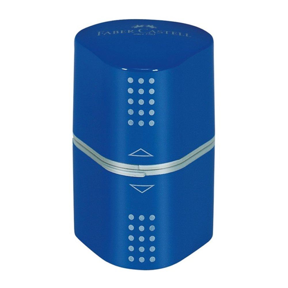 Faber-Castell Dreifachspitzdose Colour GRIP, in schwarz, rot, blau, grün oder silber erhältlich (Blau)