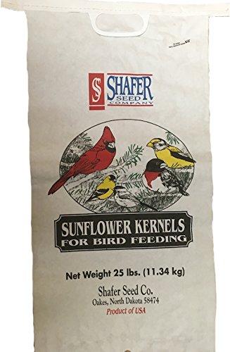 Shafer Seed 84052 Sunflower Kernels, 25-Lb Bag by Shafer Seed