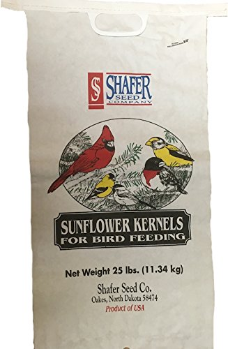 Shafer Seed 84052 Sunflower Kernels, 25-Lb Bag