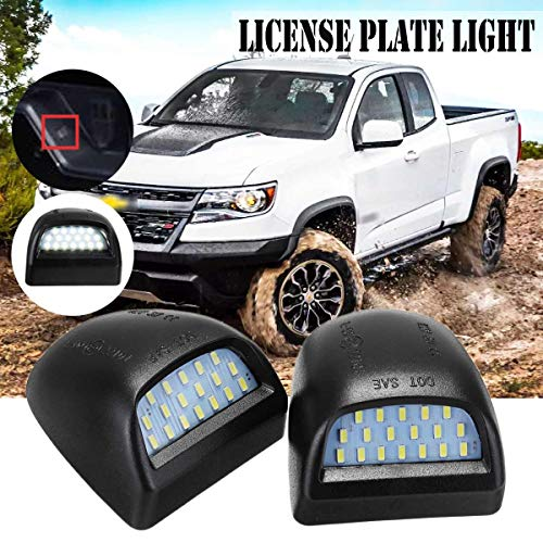 - Lindsie-Box - 2x LED Car License Plate Light Lamp for Chevrolet Silverado 1500 1500HD 2500 2500HD 3500 for Avalanche for GMC 1999-2013