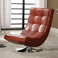 247SHOPATHOME Idf-AC6912R Living-Room, accent chair, Mahogany