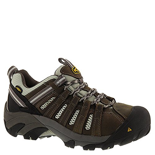 KEEN Utility Women's Flint Low Work Boot,Drizzle/Surf Spray,10.5 W US by KEEN Utility