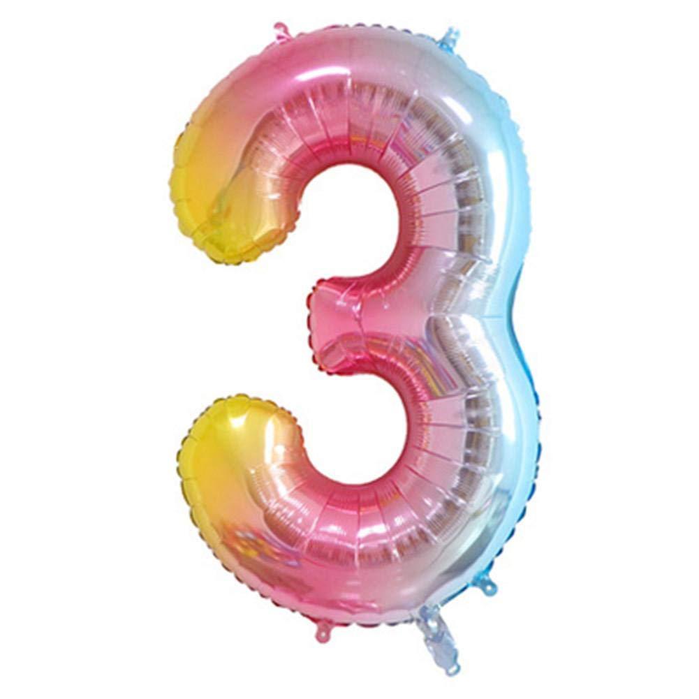 Articoli per feste e compleanni Numero Grande Palloncini Compleanno Numero Palloncino Elio Foglio Mylar Palloncini digitali Decorazione Festa di Compleanno
