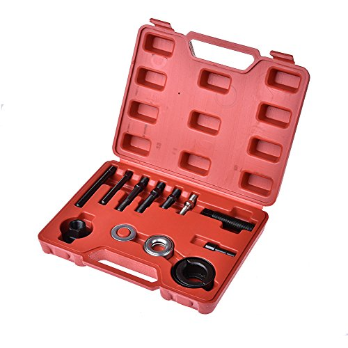ACUMSTE Pulley Puller Installer,13pc Kit Power Steering Pump Remover Alternator Pulley Tool