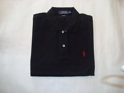 c84f0b1c57e1 Herren Ralph Lauren Poloshirt Polohemd Polo Custom Fit Mesh Shirt schwarz  kurzarm small kleiner pony Reiter