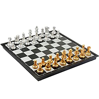 """Amerous 12"""" Travel Magnetic Chess Set, Portable Classic Folding Chess Board Game Gifts for Kids or Adults"""