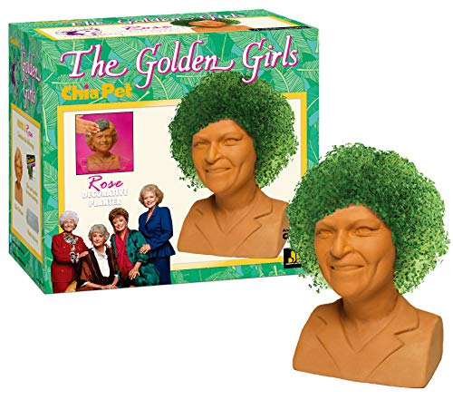 - Chia Pet The Golden Girls - Rose Decorative Pottery Planter, Easy to Do and Fun to Grow, Novelty Gift, Perfect for Any Occasion