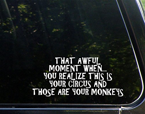 That Moment When....You Realize This Is Your Circus And Those Are Your Monkeys (8-3/4
