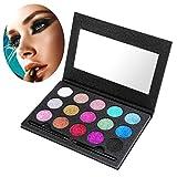 Shimmer Eyeshadow Palettes Set, ETEREAUTY Glitter Pigment Eyeshadow 15 Colors Pressed Glitter Cosmetic Makeup Eyeshadow