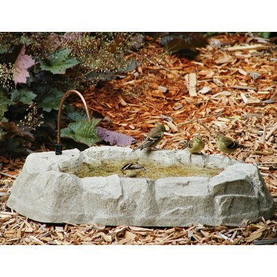 Birds Choice Rocky Mountain Ground Level Bird Bath with Dripper Tube ()