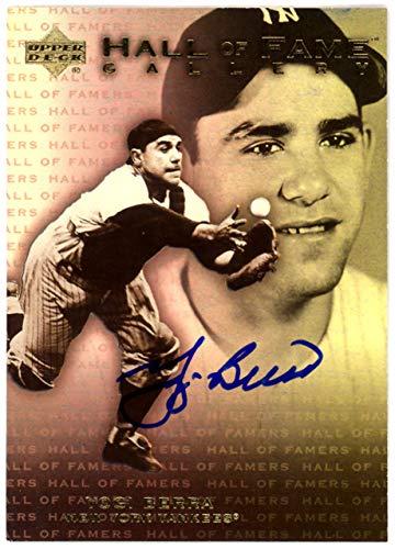 - Yogi Berra Autographed 2001 Upper Deck Hall Of Fame Gallery Card #G12 New York Yankees Steiner SKU #126188