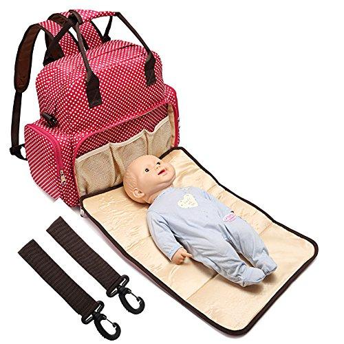 All in One Backpack Diaper Bag Waterproof Baby Nappy Bag Mom