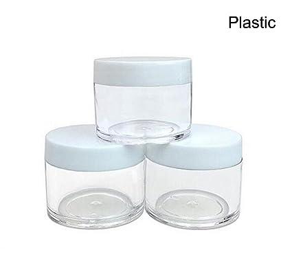 327c8c24c5cb Amazon.com : 30g 30ml/1oz Refillable Black and White Plastic Screw ...