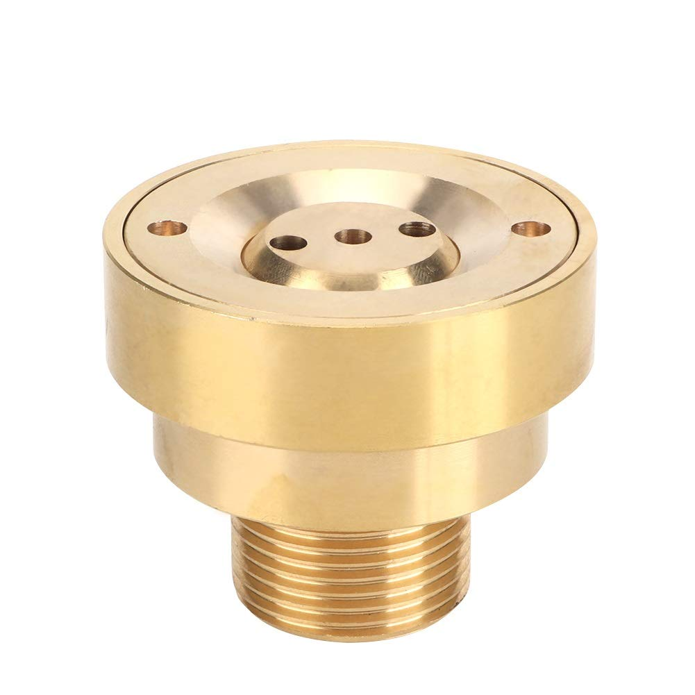 Brass Nozzle - G1in 32mm Male Thread Brass Column Water Fountain Nozzle Spray Sprinkler Head Garden Nozzle