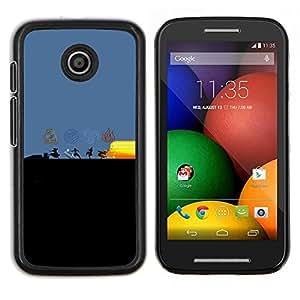 LECELL--Funda protectora / Cubierta / Piel For Motorola Moto E -- Dobladora de aire Elementos --
