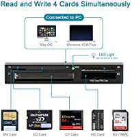 Amazon.com: Lector de tarjetas USB todo en 1 7 en 1 Multi SD ...