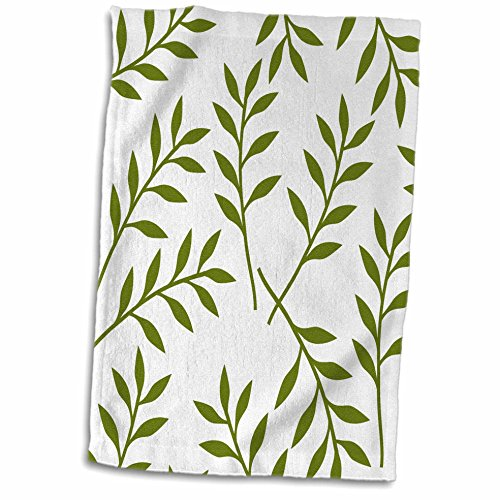 Rose Leaf Dish (3D Rose Olive Green and White Chic Leaves Towel, 15