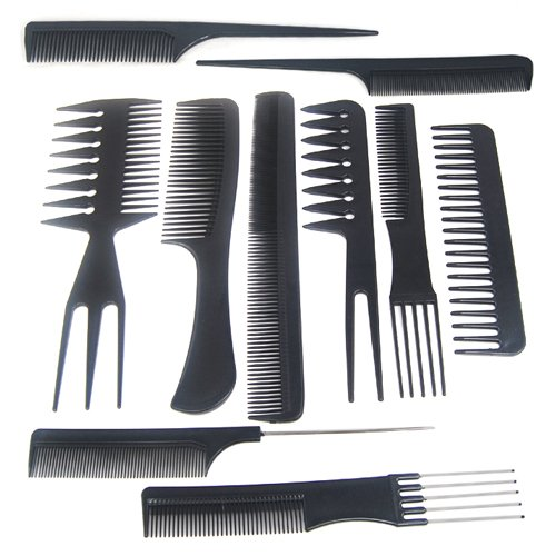 hair styling combs trixes 10pc salon hair styling hairdressing hairdresser 7677
