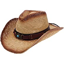 Enimay Western Outback Cowboy Hat Men's Women's Style Straw Felt Canvas