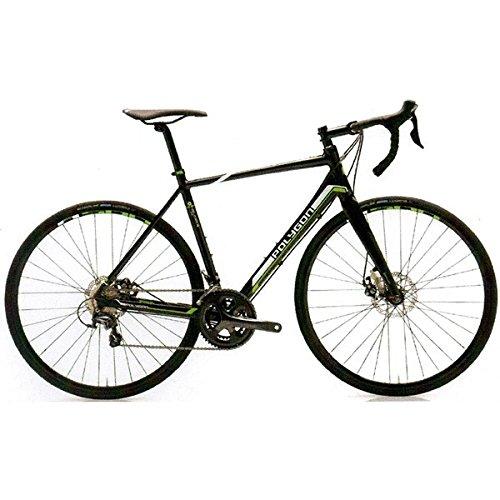 POLYGON(ポリゴン) ロードバイク Helios C4 Disc ブラック/ホワイト/グリーン 530mm B076Q34QCY