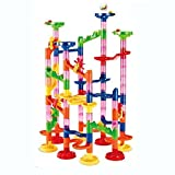 Toys : Maggift Marble Runs Toy Set Translucent Marbulous 105 Pieces 30 Glass Marbles