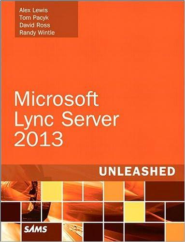 Get e-book Microsoft Lync Server 2013 Unleashed