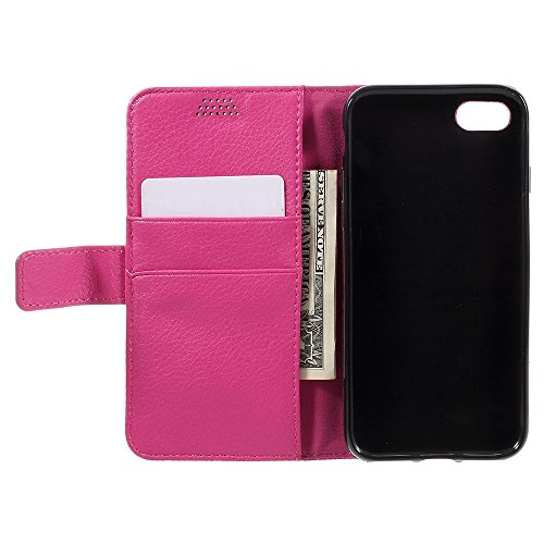Apple iPhone 7 Sac étui Cover Case de protection avec porte-cartes rose decui Rose Housse en simili cuir