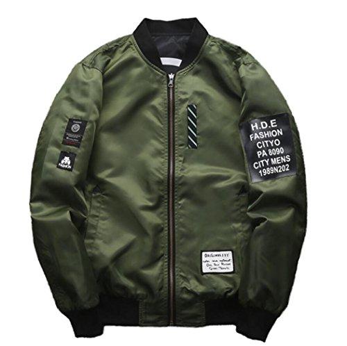 men s fashion reversible baseball jacket army