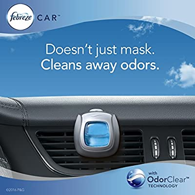 Febreze Air Freshener, Car Vent Clip Air Freshener, Hawaiian Aloha Air Freshener, Orange: Health & Personal Care