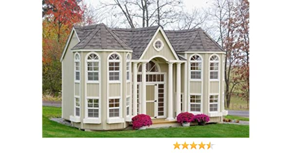 Amazoncom Dutchcrafters Grand Portico Mansion Playhouse Toys Games