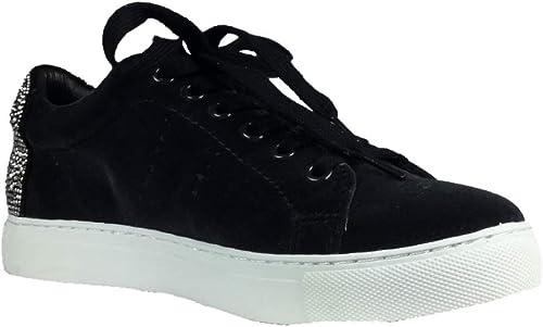 Lola Cruz Smiley Sneakers samt schwarz 238Z65BK 762597 (40