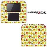 Lemon Apple Pear Orange Fruit Pattern Decorative Video Game Decal Cover Skin Protector for Nintendo 2Ds