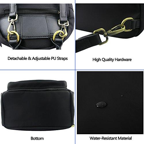 Daypack for Black Mini Betiteto Women Small Waterproof Girls Nylon Backpack Casual Travel Backpack Bag Shoulders for fqOZBvf