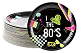 80's Party Decorations, Paper Plates (9 in., 80 Pack)