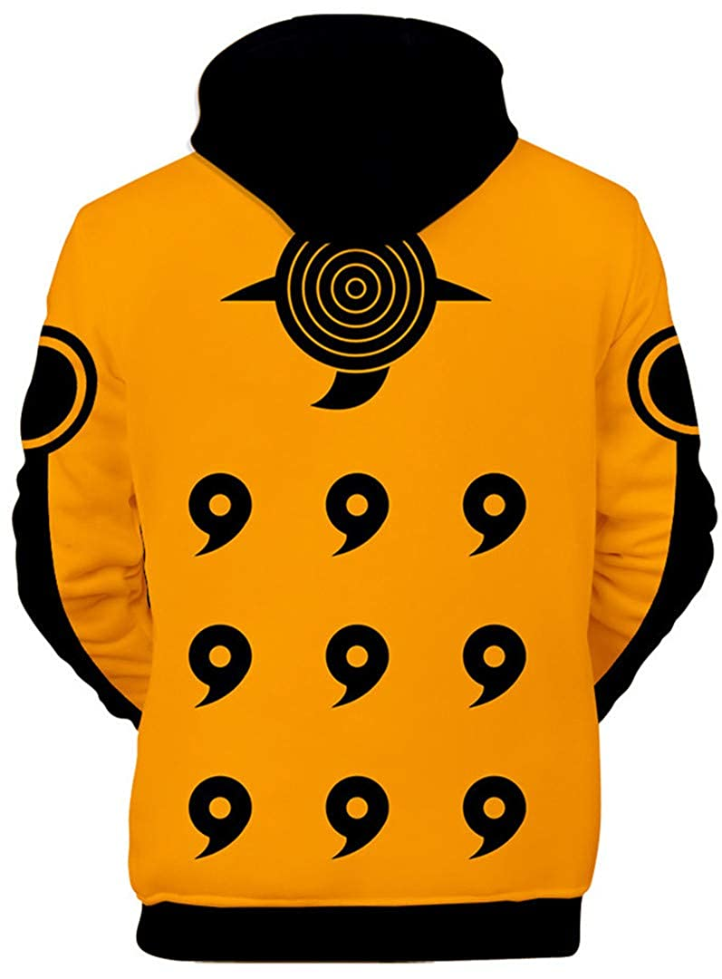 Silver Basic Unisex Boys Japanese Anime Naruto Hoodies Sweatshirt Outerwear