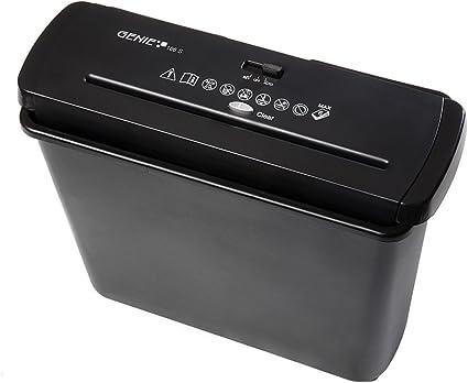 Comprar Trituradora de papel Genie 106 S Vario para cualquier papelera (hasta 6 hojas, corte en tiras), color negro