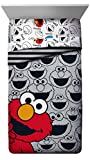 Sesame Street Elmo Hip Twin Comforter - Super Soft Kids Reversible Bedding Features Seseme Street Characters - Fade Resistant Polyester Microfiber Fill (Official Product)